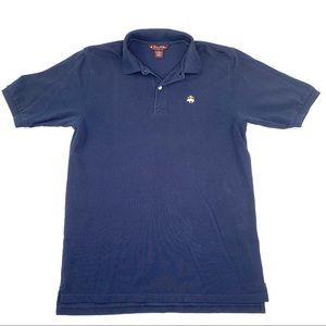 Brooks Brothers Navy Blue Short Sleeve Polo Men XL